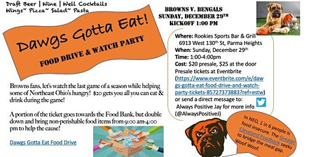 Dawgs Gotta Eat! Food Drive and Watch Party tickets