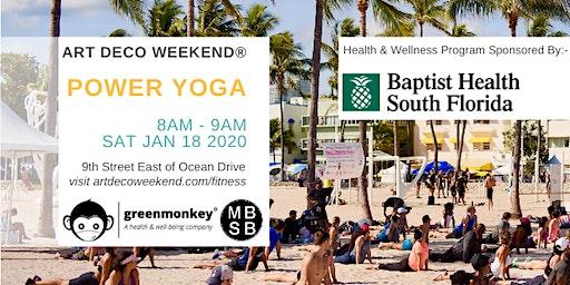 Power Yoga @ Art Deco Weekend 2020 by greenmonkey