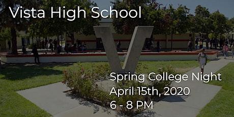 Vista High School 2020 Spring College Night tickets