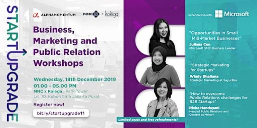 StartUpgrade :  Business, Marketing and Public Relation workshops
