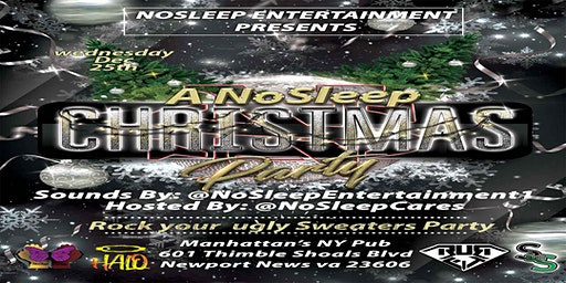 NoSleep Christmas Party {ugly sweater party}