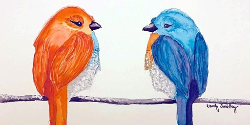 Birds on a Wire - Watercolor Class