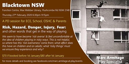 Risky Dodgy Dangerous Play - in Blacktown NSW