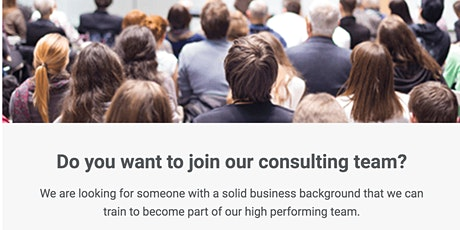 Entrepreneurial Shift Business Consultant Opportunity Information Session tickets