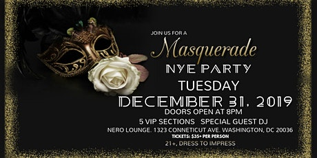 MASQUERADE PARTY | NYE 2020 Celebration  tickets
