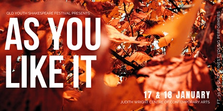 As You Like It by William Shakespeare tickets