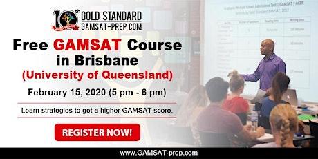 BRISBANE: Free GAMSAT Seminar on February 2020 tickets