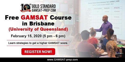 Free GAMSAT Strategy Session in Brisbane - February 15, 2020