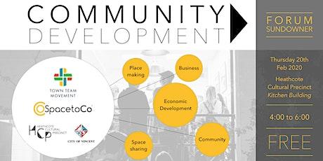 Community Development Forum Sundowner tickets