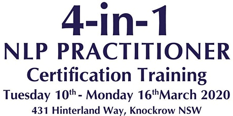 4 in 1 NLP Practitioner Training tickets