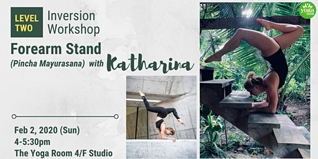 Inversion Workshop Level 2: Forearm Stand (Pincha Mayurasana) with Kat tickets