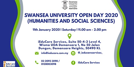 SWANSEA UNIVERSITY OPEN DAY 2020 (HUMANITIES AND SOCIAL SCIENCES) tickets