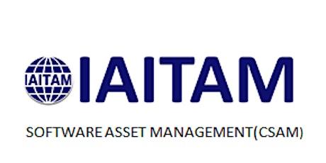 IAITAM Software Asset Management (CSAM) 2 Days Training in Houston, TX tickets