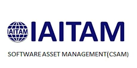 IAITAM Software Asset Management (CSAM) 2 Days Training in Las Vegas, NV tickets