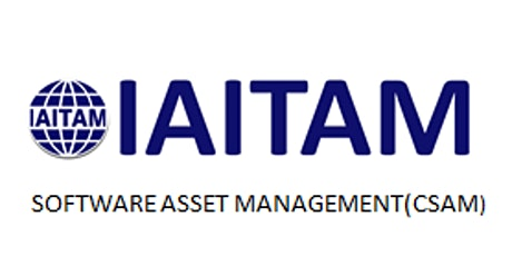 IAITAM Software Asset Management (CSAM) 2 Days Virtual Live Training in Calgary tickets