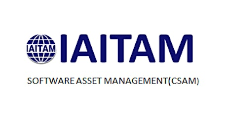 IAITAM Software Asset Management (CSAM) 2 Days Virtual Live Training in Hamilton tickets