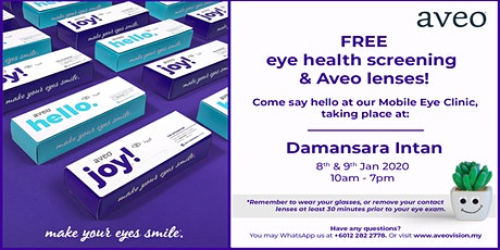 Free Eye Health Screening & Aveo Contact lenses at  Damansara Intan! tickets