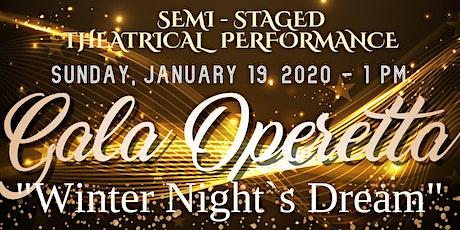 "Gala Operetta ""Winter night`s dream"" tickets"