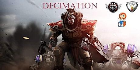 DECIMATION! 40k ITC RTT tickets