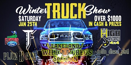 Contestant  Pre-Registration for Wild Greg's Saloon Winter Truck Show 2020 tickets