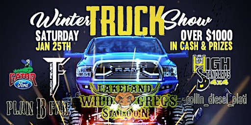 Contestant  Pre-Registration for Wild Greg's Saloon Winter Truck Show 2020