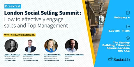 London Social Selling Summit: How to engage sales and Top Management tickets