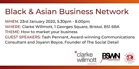 Black & Asian Business Network event - How to market your business tickets