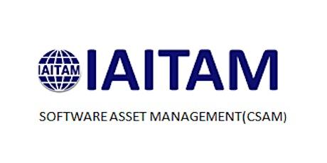 IAITAM Software Asset Management (CSAM) 2 Days Training in Seattle, WA tickets