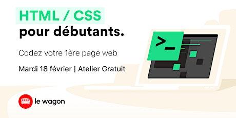 Atelier gratuit: Codez votre première page web ! billets