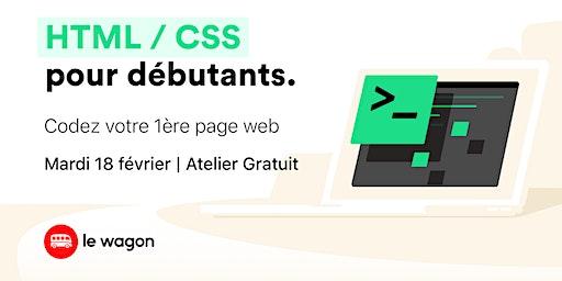 Atelier gratuit: Codez votre première page web !