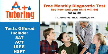 Free Diagnostic SAT/ACT/ISEE/HSPT tickets