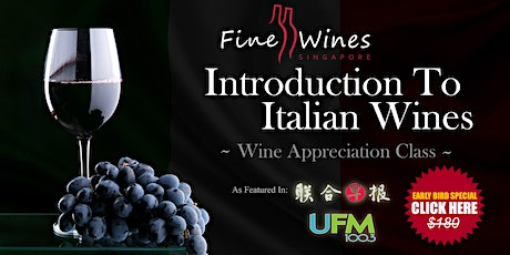 Introduction To Italian Wines Class tickets
