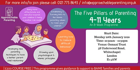 The 5 Pillars of Parenting: 4-11 Years tickets