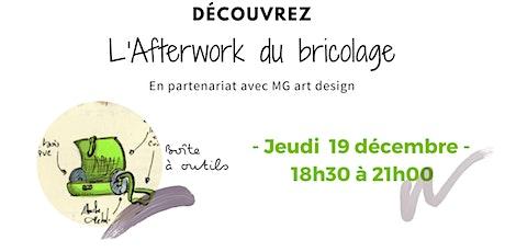 """Afterwork bricolage  : """"je réalise une boîte à outils design"""" billets"""