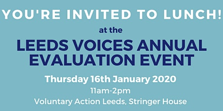 Leeds Voices Annual Evaluation tickets