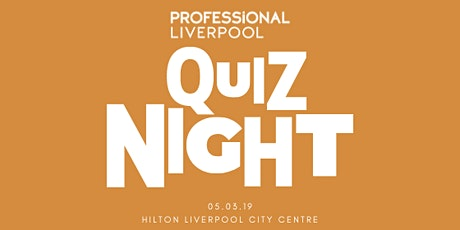 Professional Liverpool Quiz Night tickets