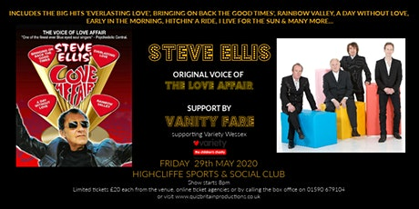 Steve Ellis (former lead singer of The Love Affair) support by Vanity Fare tickets