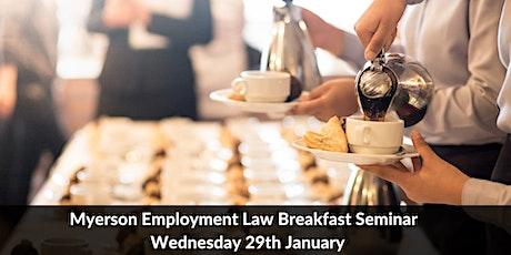 Myerson Employment Law Breakfast Seminar tickets