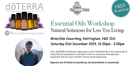 Essential Oils Workshop - Natural Solutions for Low Tox Living tickets