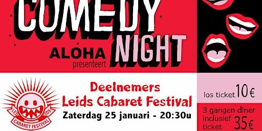 Deelnemers Leids Cabaret Festival incl. 3 gangen diner