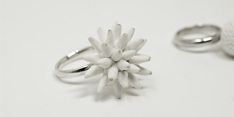 Two-day course to make a ring and earrings in silver and porcelain biglietti