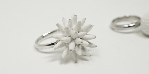 Two-day course to make a ring and earrings in silver and porcelain