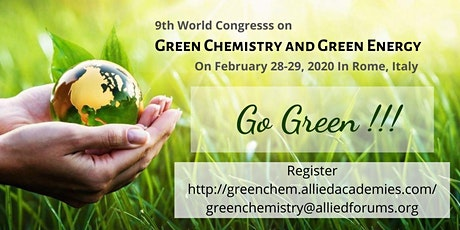 Green Chemistry and Green Energy 2020 tickets