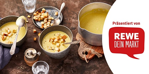 REWE Koch-Workshop: Fenchelsuppe mit Curry-Croutons