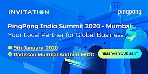 PingPong India Summit 2020- Mumbai