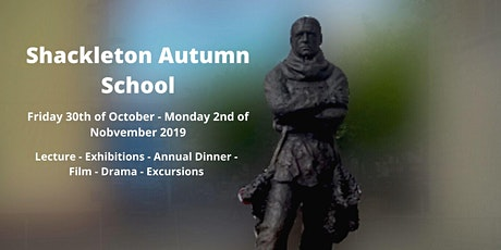20th Ernest Shackleton Autumn School October Bank Holiday Weekend tickets