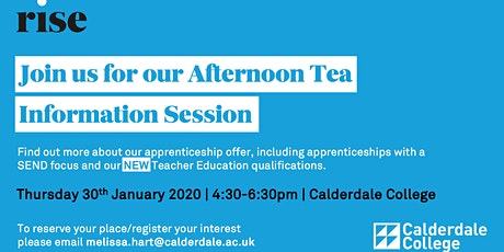 Apprenticeships Afternoon Tea Information Session at Calderdale College tickets