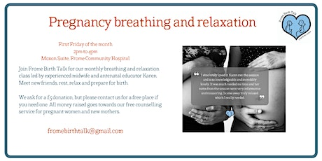 Pregnancy breathing and relaxation class tickets