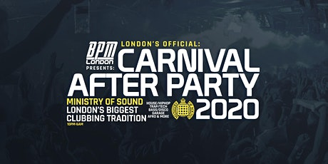 The Official Carnival After Party at Ministry of Sound tickets