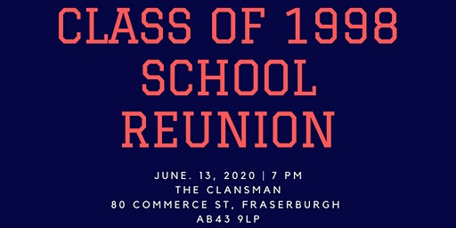 Class of 1998 School Reunion - Deposit Only